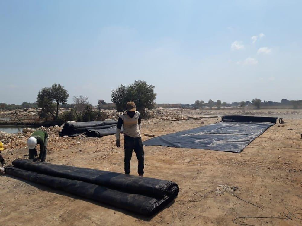 instalasi geotextile woven di gresik