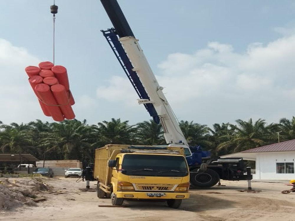 pengiriman geotextile PT Prima Geotex Indo ke Dumai Riau 1