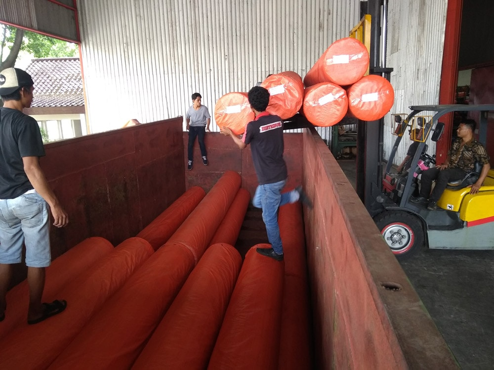 pengiriman geotextile ke dumai riau