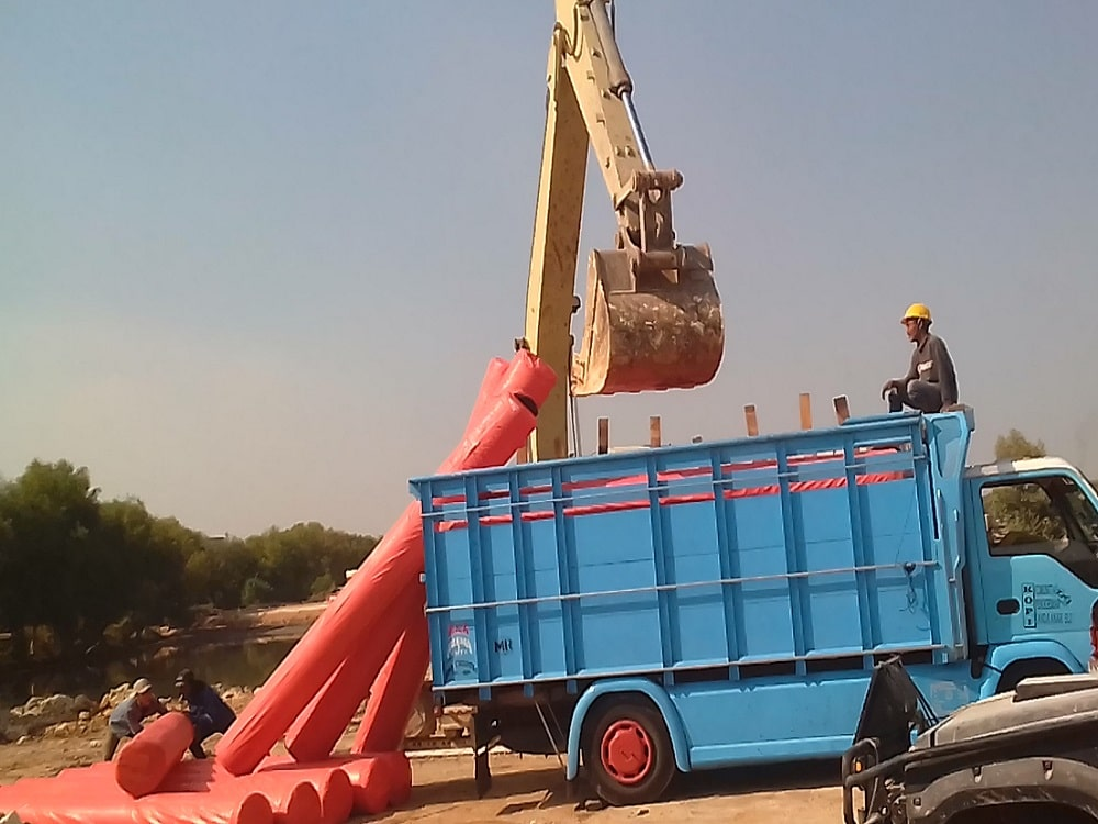 pengiriman geotextile woven 300 gr ke gresik